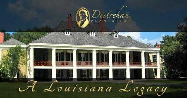 Map Of Louisiana Plantation Homes.Destrehan Plantation